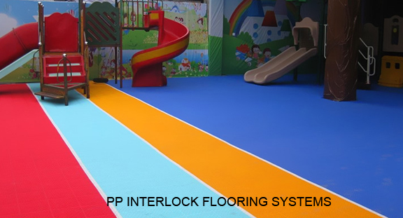 PP Interlock Flooring Systems For Kids Area